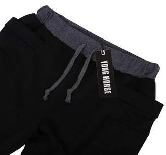 GlowSol Men's Elastic Force Elastic Waist Pocket Casual Pants Black S Color:black Size:Asia XL