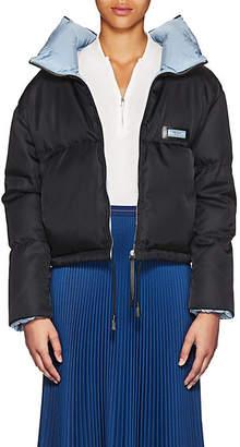 Prada Women's Contrast-Interior Puffer Jacket - Black
