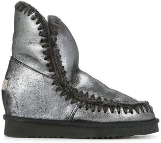 Mou metallic snow boots