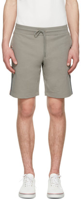 Moncler Grey Side Stripes Shorts $215 thestylecure.com
