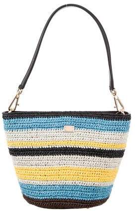 Dolce & Gabbana Straw Bucket Bag w/ Tags