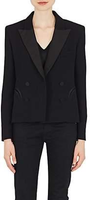 BLAZÉ MILANO Women's Essentials Wool Double-Breasted Blazer - Black