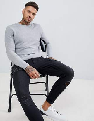 Pull&Bear Sweater In Gray