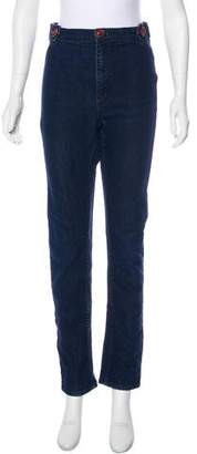 Grey Ant Mid-Rise Straight-Leg Jeans