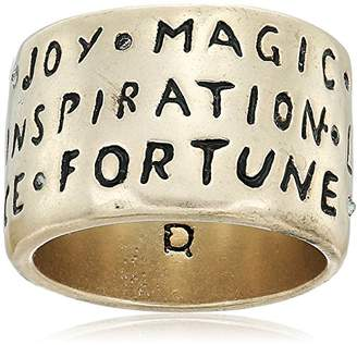 Rachel Roy Womens Verbiage Band Ring