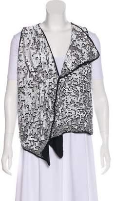 Adam Sequin Draped Vest