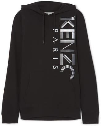 Kenzo Printed Cotton-jersey Hoodie - Black