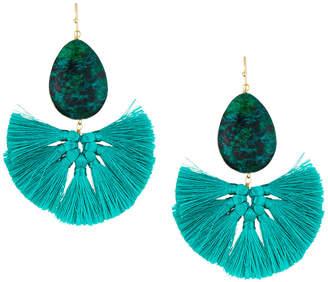 Panacea Stone Fan Drop Earrings