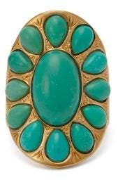 Aurelie Bidermann Navajo 18kt Gold Plated Ring - Womens - Blue