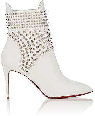 Christian Louboutin Women's Spiked Leather Ankle Boots