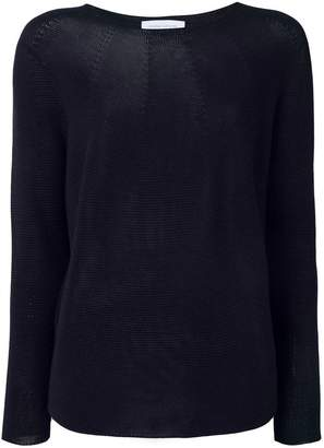Christian Wijnants scoop neck longsleeved engineered knit top