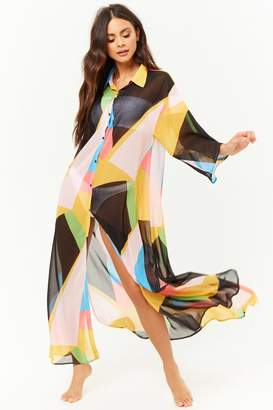 Forever 21 Colorblock Maxi Dress Swim Cover-Up