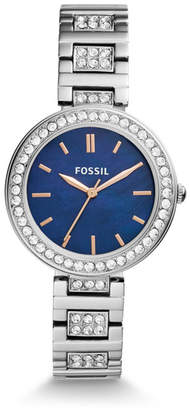 Fossil Karli Three-Hand Stainless Steel Watch