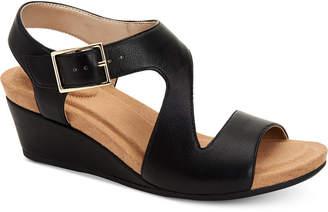 Giani Bernini Belinaa Memory Foam Wedge Sandals, Women Shoes