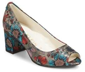 Anne Klein Floral Block Heel Dress Pumps