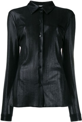 MSGM metallized long-sleeved shirt