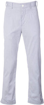 Engineered Garments straight leg roll up trousers