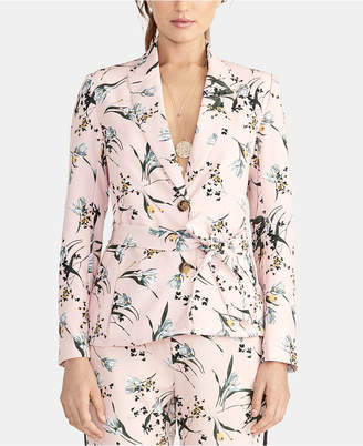 Rachel Roy Calli Printed Tie-Waist Blazer