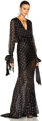 Alexandre Vauthier Embellished Plunging Gown $13,248 thestylecure.com