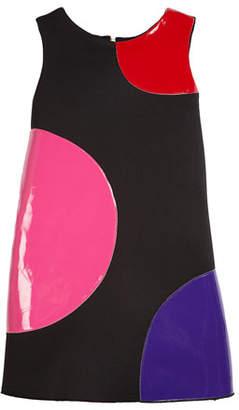 Zoe Dot Patches Scuba Knit Dress, Size 7-16