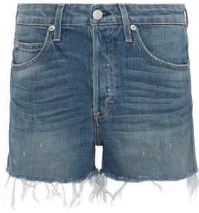 Amo Babe Distressed Denim Shorts