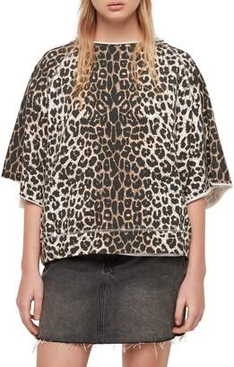 AllSaints Mila Short Sleeve Sweatshirt