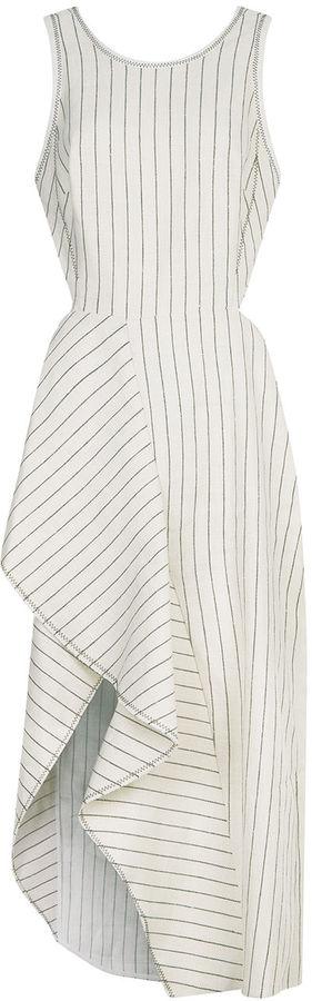 3.1 Phillip Lim3.1 Phillip Lim Ecru Linen Pinstripe Cutaway Dress