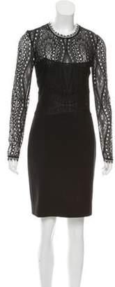 Emilio Pucci Lace Knee-Length Dress Black Lace Knee-Length Dress