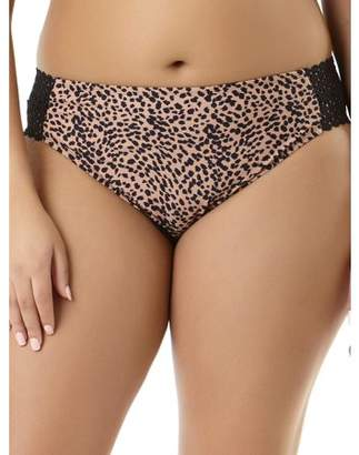 da2efc2b074 No Boundaries Juniors  Plus-Size Animal Instinct Scoop Bikini Bottom