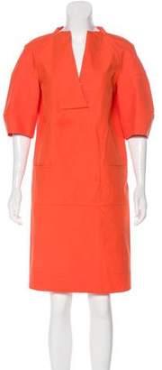 Marni V-Neck Work Dress