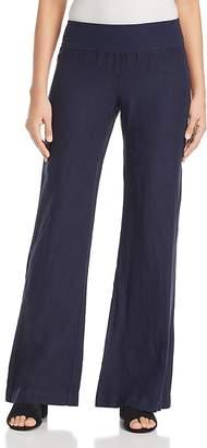 Three Dots Linen Wide-Leg Pull-On Pants
