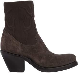 Rocco P. 40mm Elastic & Suede Cowboy Boots