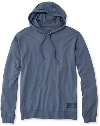 L.L. Bean L.L.Bean Lakewashed Garment-Dyed Hooded T-Shirt, Slightly Fitted Long-Sleeve