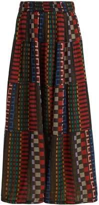 Ace&Jig Panelled cotton-blend skirt