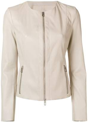 Drome leather cropped jacket
