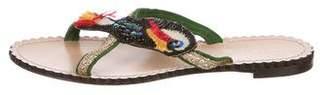 Charlotte Olympia Embellished Flat Sandals
