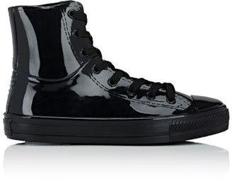 Barneys New York Women's Cap-Toe High-Top Rain Sneakers-BLACK $90 thestylecure.com