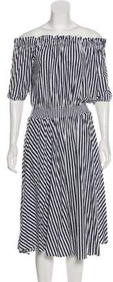M.D.S. Stripes Striped Midi Dress
