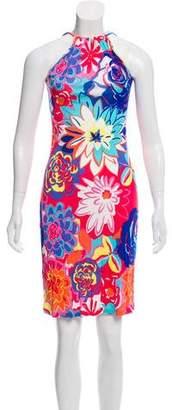 Versace Floral Sleeveless Dress