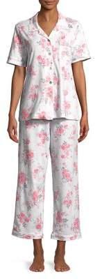 Carole Hochman Two-Piece Notch Collar Floral Pajama Set