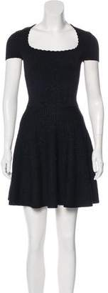 Ronny Kobo Metallic Knit Mini Dress