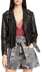 IRO Anoh Leather Moto Jacket