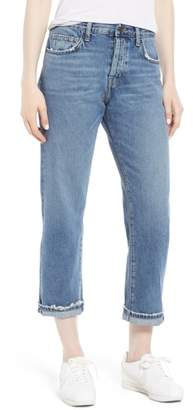 Current/Elliott The Original Straight Leg Crop Jeans