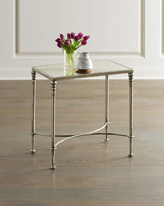 Bernhardt Orleans Silver Leaf End Table
