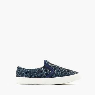 J.Crew Girls' slide sneakers in glitter