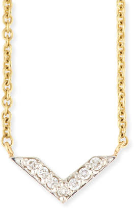 Sydney Evan Two-Tone Diamond Chevron Necklace