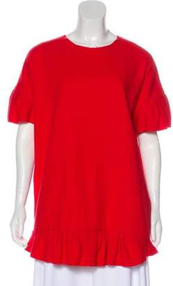 Ter Et Bantine Cashmere Woven Tunic Red Cashmere Woven Tunic