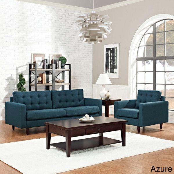 Modway Empress 2-piece Upholstered Armchair and Sofa Set