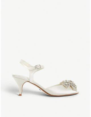 Dune Majestiie embellished satin kitten heels
