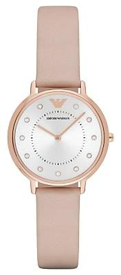 Emporio Armani AR2510 Women's Kappa Round Watch, Blush Pink